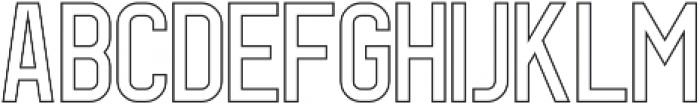 Geist Line otf (400) Font UPPERCASE