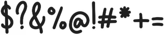 Gelato Regular otf (400) Font OTHER CHARS