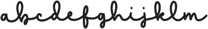 Gelato Regular otf (400) Font LOWERCASE
