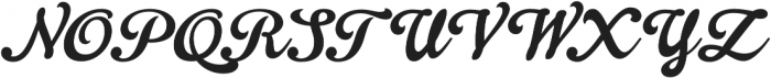 Gelato Script otf (400) Font UPPERCASE