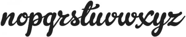 Gelato Script otf (400) Font LOWERCASE