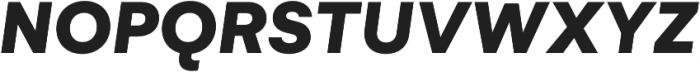 Gelion Black Italic otf (900) Font UPPERCASE