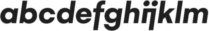 Gelion Bold Italic otf (700) Font LOWERCASE