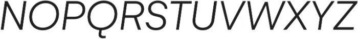 Gelion Light Italic otf (300) Font UPPERCASE