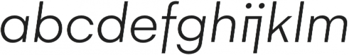 Gelion Light Italic otf (300) Font LOWERCASE