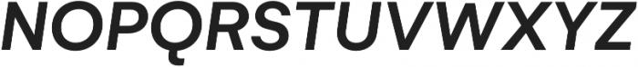 Gelion Medium Italic otf (500) Font UPPERCASE