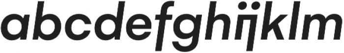 Gelion Medium Italic otf (500) Font LOWERCASE