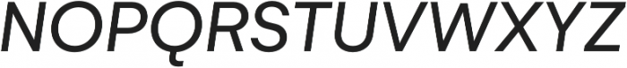 Gelion Regular Italic otf (400) Font UPPERCASE