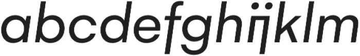 Gelion Regular Italic otf (400) Font LOWERCASE