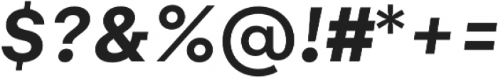 Gelion Semi Bold Italic otf (600) Font OTHER CHARS