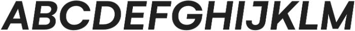 Gelion Semi Bold Italic otf (600) Font UPPERCASE