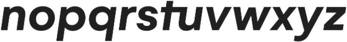 Gelion Semi Bold Italic otf (600) Font LOWERCASE