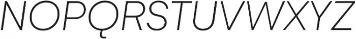 Gelion Thin Italic otf (100) Font UPPERCASE