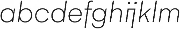 Gelion Thin Italic otf (100) Font LOWERCASE