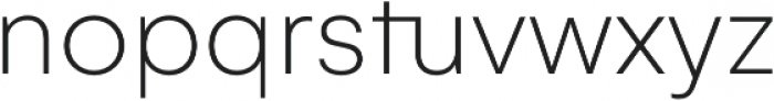 Gelion Thin otf (100) Font LOWERCASE