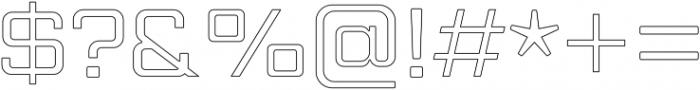 Gemini Cluster Outline Medium otf (500) Font OTHER CHARS