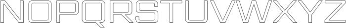 Gemini Cluster Outline Medium otf (500) Font UPPERCASE