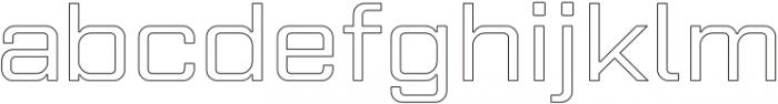 Gemini Cluster Outline Medium otf (500) Font LOWERCASE