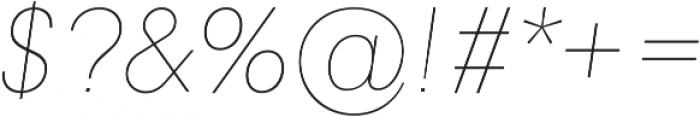 Genera Alt Thin Oblique ttf (100) Font OTHER CHARS