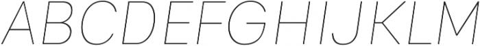Genera Alt Thin Oblique ttf (100) Font UPPERCASE