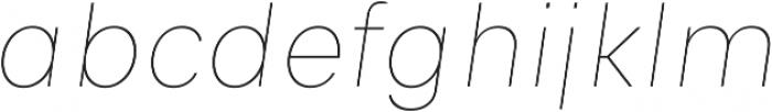 Genera Alt Thin Oblique ttf (100) Font LOWERCASE