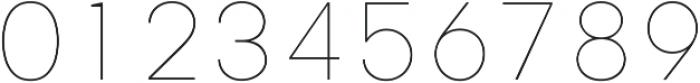 Genera Alt Thin ttf (100) Font OTHER CHARS
