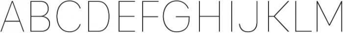 Genera Alt Thin ttf (100) Font UPPERCASE