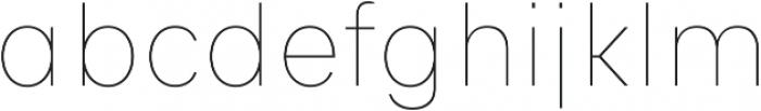 Genera Alt Thin ttf (100) Font LOWERCASE