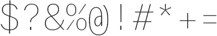 Generisch Mono Thin otf (100) Font OTHER CHARS
