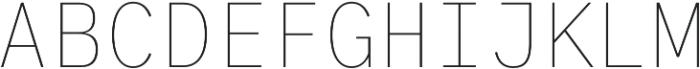 Generisch Mono Thin otf (100) Font UPPERCASE