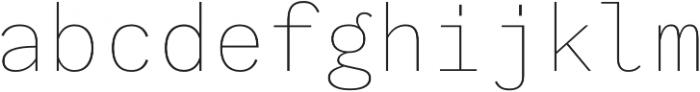 Generisch Mono Thin otf (100) Font LOWERCASE