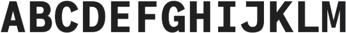 Generisch Mono otf (700) Font UPPERCASE