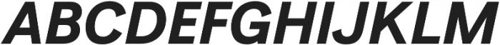 Generisch Sans Bold Slanted otf (700) Font UPPERCASE