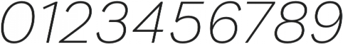 Generisch Sans Light Slanted otf (300) Font OTHER CHARS