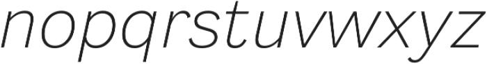 Generisch Sans Light Slanted otf (300) Font LOWERCASE