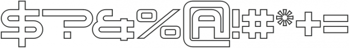 Genesis 03 Outline otf (400) Font OTHER CHARS