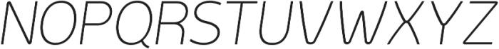 Genius otf (200) Font UPPERCASE