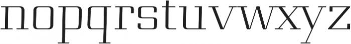 Genius regular otf (400) Font LOWERCASE