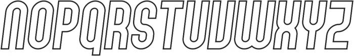Gennaro Italic Outline otf (400) Font LOWERCASE