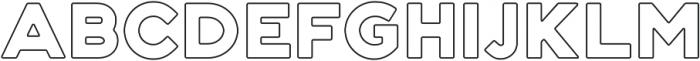 Genplan Pro Wireframe otf (400) Font UPPERCASE