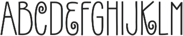 Gentil Bold otf (700) Font UPPERCASE