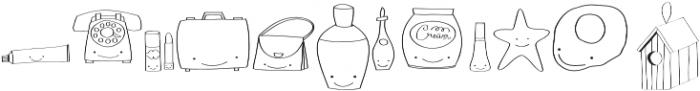 Gentil Doodles otf (400) Font UPPERCASE