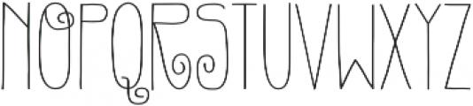Gentil otf (400) Font UPPERCASE