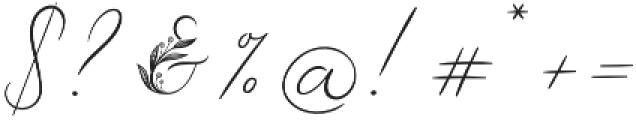 GentleWhisper Floral otf (400) Font OTHER CHARS