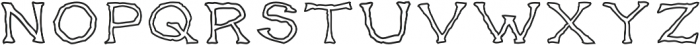 Gentleman's Poison Outlined otf (400) Font UPPERCASE