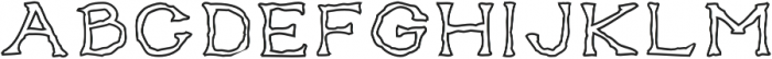 Gentleman's Poison Outlined otf (400) Font LOWERCASE