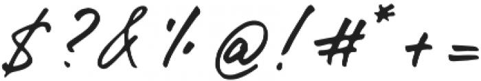 Gentlemens Script otf (400) Font OTHER CHARS