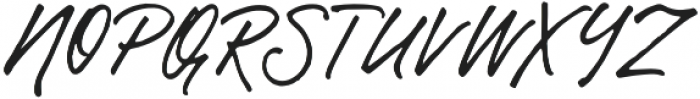 Gentlemens Script otf (400) Font UPPERCASE