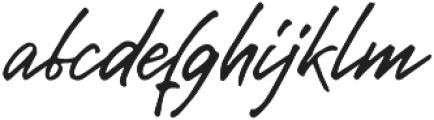 Gentlemens Script otf (400) Font LOWERCASE