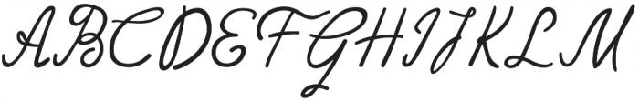 Gently Script otf (400) Font UPPERCASE